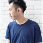 黒髪でシンプルに男らしいツーブロックショート