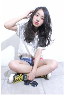 セクシー&カジュアル☆黒髪ウェービーロング