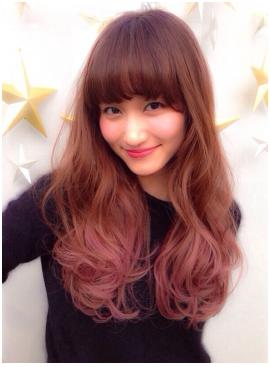 ハイライト×ピンクバター☆レイヤーロングヘアー
