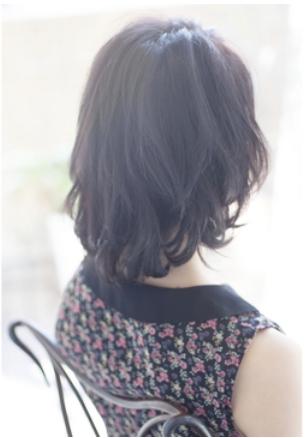 黒髪でもふんわり柔らかくて大人可愛い*小顔ボブミディ☆