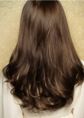 黒髪・暗髪のパーマスタイル!クラシカルセミロング