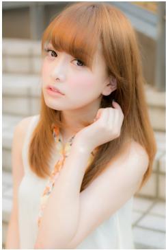 美髪ストレート☆ツヤ感あるセミロング