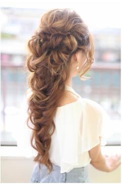 妖精イメージのヘアセット