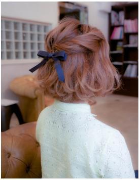 自分でも簡単なボブのヘアアレンジ