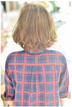 ギザギザ前髪で大人かわいいボブ