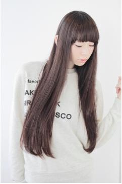 黒髪ストレート☆好印象ドーリーヘア