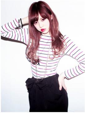 レッドピンク×美髪☆ロングスタイル