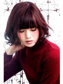 ミックスカールのピンクレッドボブ☆